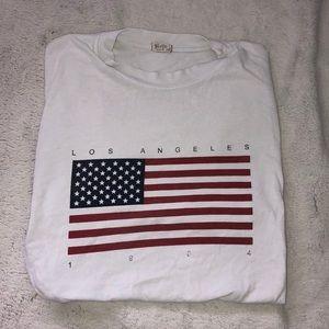 Brandy Melville American Flag Shirt